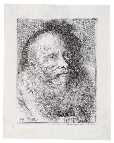 Giovanni Domenico Tiepolo, 'Old Man with Decorative Cap', 18th Century