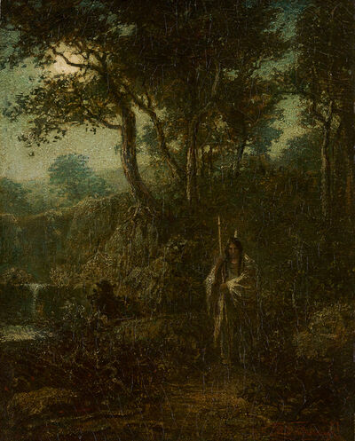 Ralph Albert Blakelock, 'Indian Warrior at Moonlight ', Late 19th century