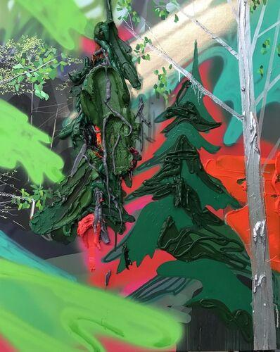 Kim Dorland, 'Portrait of a Landscape(Two Trees)', 2017