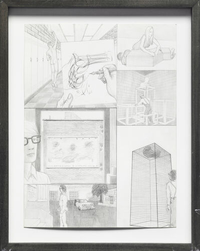 Jim Shaw, 'Dream Drawing: In a high school hallway', 1995