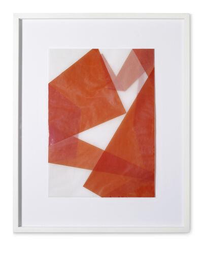 Beat Zoderer, 'Faltungen Rot', 2003