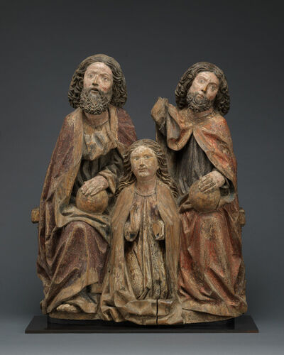 Unknown Swabian, 'Coronation of the Virgin', ca. 1500