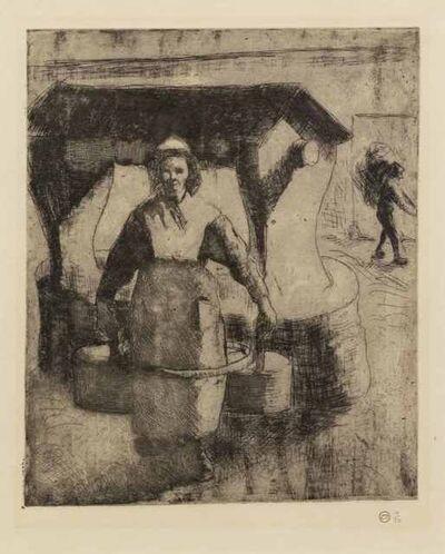 Camille Pissarro, 'Paysanne au puits', 1891