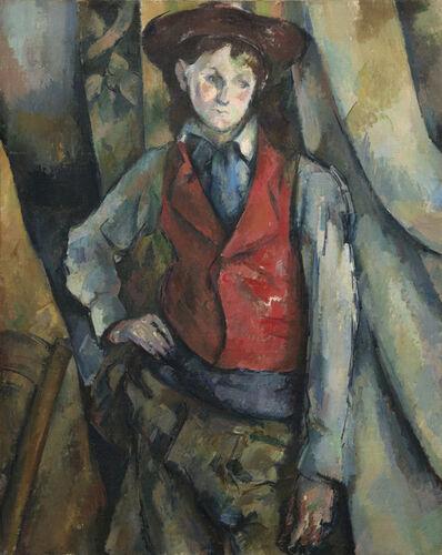Paul Cézanne, 'Boy in a Red Waistcoat', 1888-1890