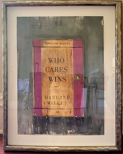 Harland Miller, ' Who Cares Wins (Pink) ', 2019