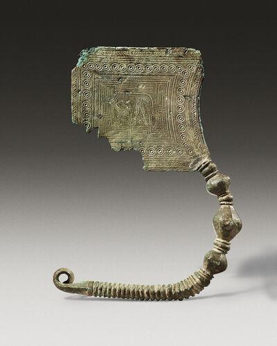 Unknown Greek, 'Ancient Greek Geometric Bronze Plate Fibula with an Engraved Decoration', late 8th century B.C.