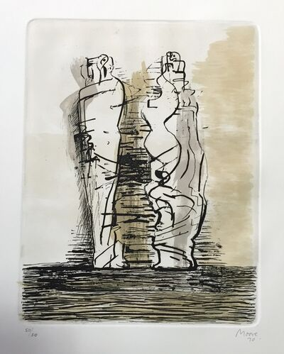 Henry Moore, 'Two Draped Standing', 1973