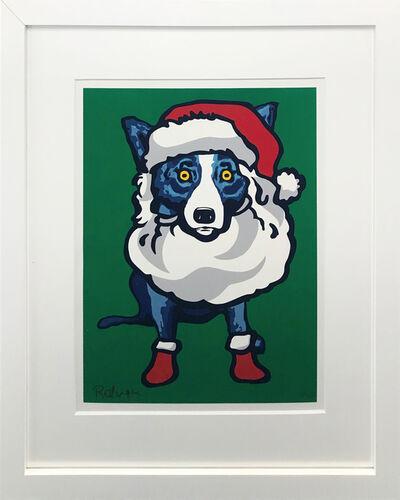 George Rodrigue, 'HO HO HO (BLUE DOG)', 2000