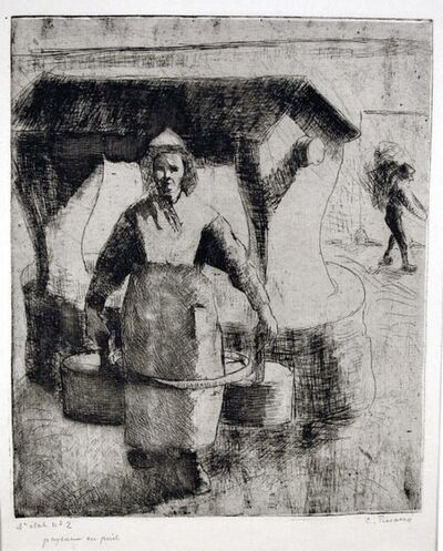 Camille Pissarro, 'Paysanne au Puits (Peasant Woman at the Well)', 1891