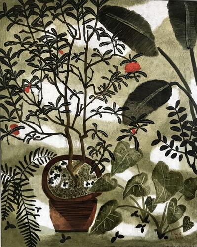 Dong Shawhwei 董小蕙, 'Floral Dialogue VI: Pomegranate 花間對語Ⅵ-石榴花 ', 2016