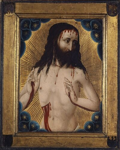 Hans Pleydenwurff (Workshop), 'The Man of Sorrows', 1456