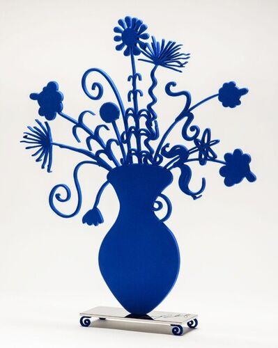 Kenny Scharf, 'Flores Blue Sculpture', 2021