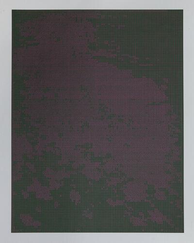 Corinne Laroche, 'Fuschia on dark green', 2008