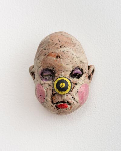 Tom Bartel, 'Medium Doll Head, Yellow and Black Striped Nose', 2018