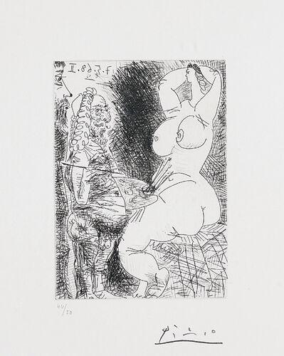 Pablo Picasso, 'Vieux Peintre, Modèle et Spectateur (Old Painter, Model and Spectator), pl. 68 from Séries 347', 1968