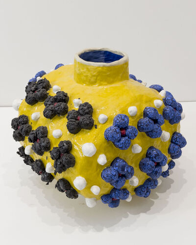 Judy Ledgerwood, 'Variations on a Square (Yellow, Blue, Black)', 2020