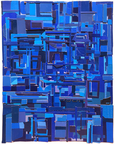 Matt Gonzalez, 'Geography in blue', 2014