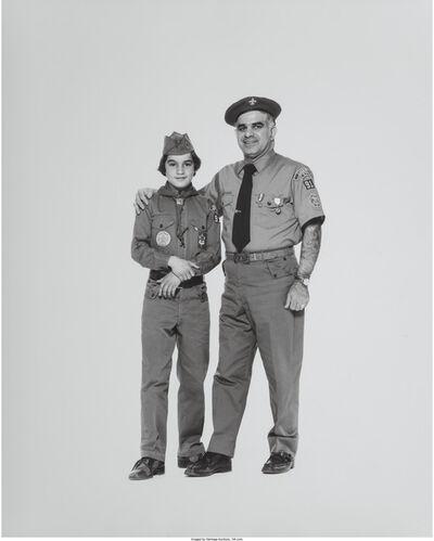 Elliott Erwitt, 'Corning Boy Scout and Scout Master', 1976