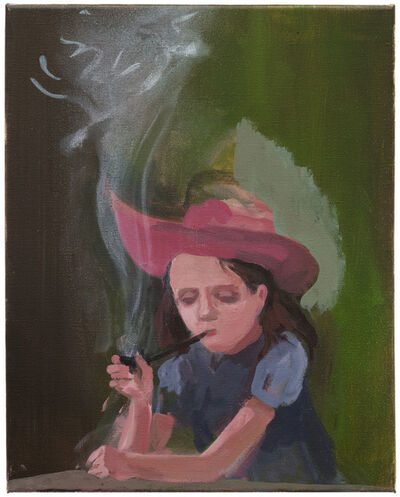 Tilo Baumgärtel, 'Girl with Pipe', 2017