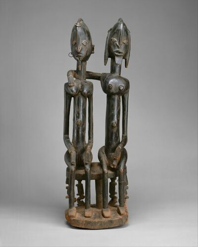Unknown Dogon, 'Figure: Seated Couple', 18th–early 19th century