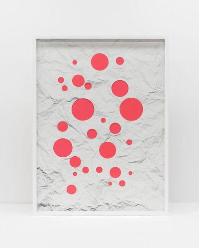 Vik Muniz, 'Handmade: Crumpled paper cut circles (pink)', 2017