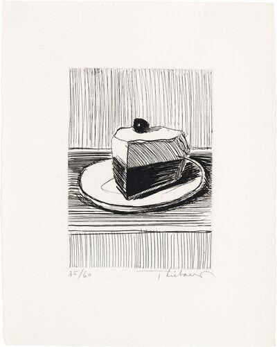Wayne Thiebaud, 'Slice Of Pie', 1962