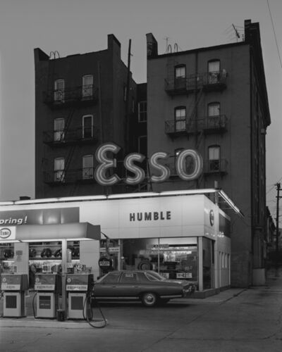 George Tice, 'Esso Station and Tenement House, Hoboken, NJ', 1972-printed 2017