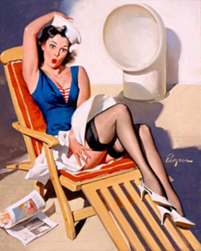Gil Elvgren, 'Skirts Ahoy', 1967