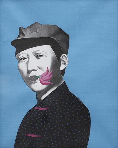 Li Shan 李山 (b. 1942), 'Rouge Series - Mao', 2005