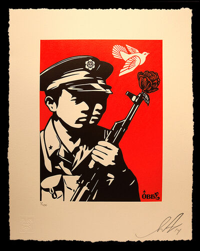Shepard Fairey, 'Chinese Soldiers Letterpress', 2014