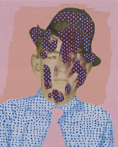 Daisy Patton, 'Untitled (Man with Dots on Tie, Hat, and Shirt)', 2018