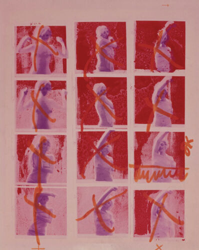 Bert Stern, 'Marilyn Monroe, Contact Sheet, Burgundy Silkscreen from The Last Sitting', 1962