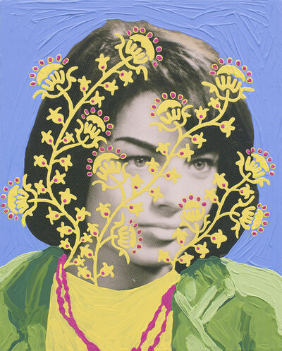 Daisy Patton, 'Untitled (Woman with Yellow and Pink Pattern and Blue)', 2018