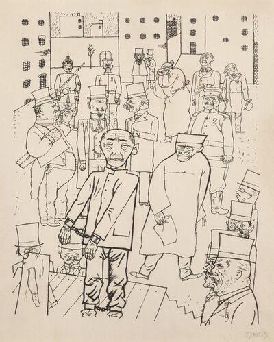 George Grosz, 'Kein Hahn kräht nach ihnen (Nobody Cares about Them)', 1920