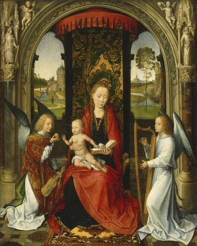 Hans Memling, 'Madonna and Child with Angels', after 1479