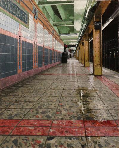 Richard Combes, 'Downtown Platform Franklin St. Subway', 2018
