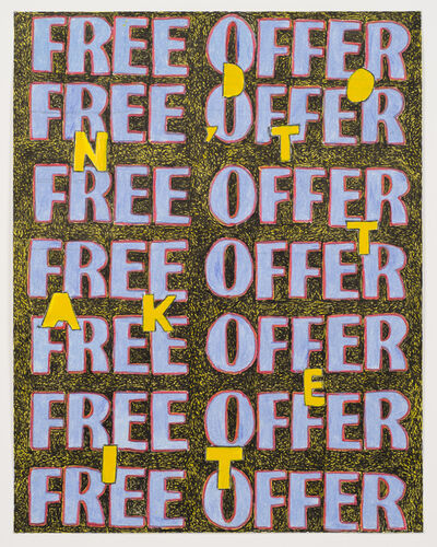 Anthony Campuzano, 'Free Offer (Study)', 2017