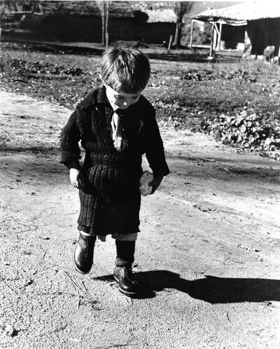 David Seymour, 'Elefeteria and her new shoes II, Greece', 1949