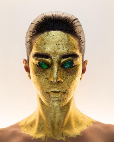 Martine Gutierrez, 'Masking, 24k Gold Mask, p46 from Indigenous Woman', 2018