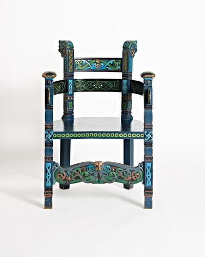 Lars Kinsarvik, 'Carved Chair', 1900