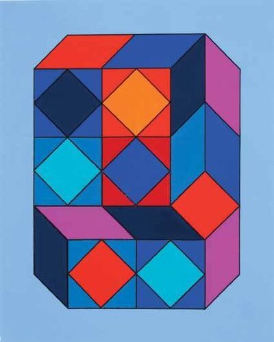 Victor Vasarely, 'VY-29F. Maquette for Xico-8', 1973