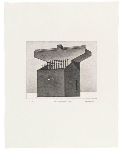 """Konrad Klapheck, 'Der mütterliche Vater (früher: Schreibmaschine """"Titan"""")', 1977/80"""