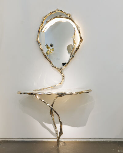 Markus Haase, 'Markus Haase, Bronze and Marble Console with Bronze Mirror, DE', 2020