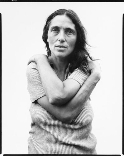 Richard Avedon, 'June Leaf, sculptress, Mabou Mines, Nova Scotia, July 17, 1975', 1975
