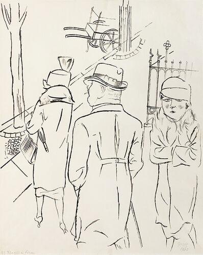 George Grosz, 'Berlin Street Scene', 1923