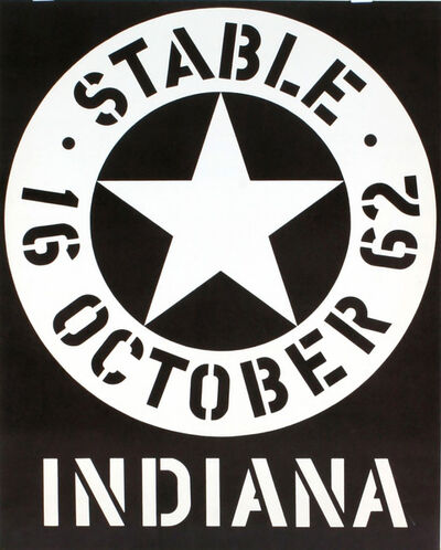 Robert Indiana, 'Stable Gallery October 1962 Exhibition Poster (Hand Signed & Inscribed)', 1962