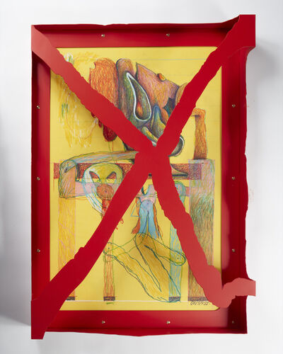 Serban Ionescu, 'Untitled framed drawing on paper', 2020