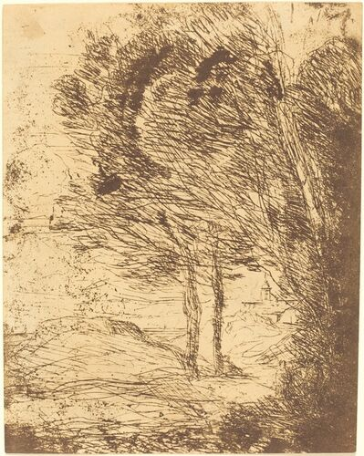 Jean-Baptiste-Camille Corot, 'Environs of Genoa (Environs de Genes)', 1860