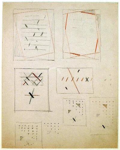Friedrich Vordemberge-Gildewart, 'Various Studies for Compositions (D73)', c. 1946