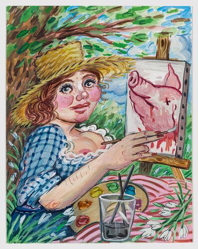 Rebecca Morgan, 'Self Portrait Painting a Pig', 2020